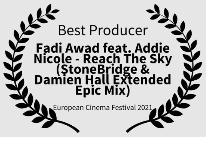 "Fadi Awad won three awards for his composition of ""We Are Here"" at The European Cinema Festival 2021"