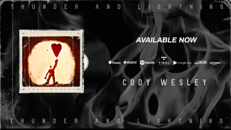 """""""Thunder and Lightning"""" is the 7 track debut album of American artist Cody Wesley – out now!"""